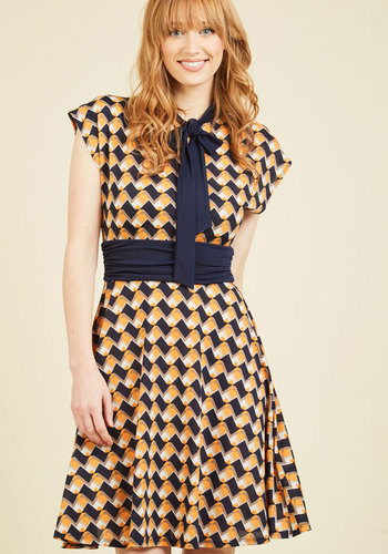1960s Plus Size Dresses & Retro Mod Fashion Style Professional Symposium A-Line Dress $64.99 AT vintagedancer.com