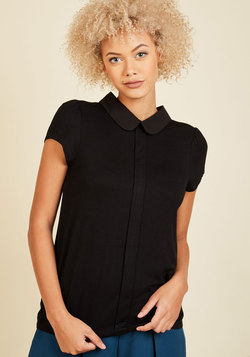 Perfected Polish Knit Top in Noir