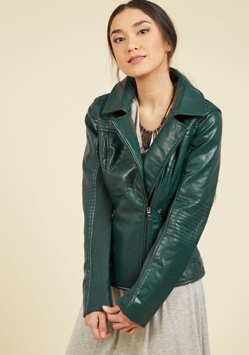 Moto You Than Meets the Eye Jacket in Pine