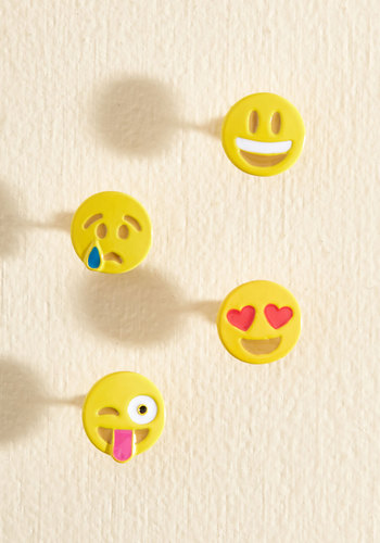 Show Some Emoji Pin Set - 90s, Quirky, Fall, Silver, Gold, Good, Rose Gold