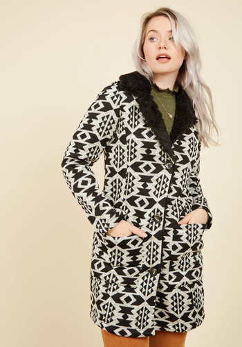 Shop 1960s Style Coats and Jackets Even Sweater Than Imagined Coat $79.99 AT vintagedancer.com