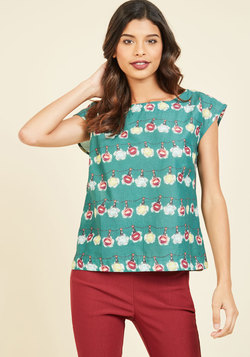 Whimsy and Wonder Cotton Top in Ornaments