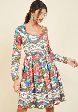 Boldness Beckons A-Line Dress
