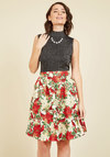Poinsettia Well-Taken Skater Skirt