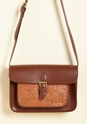 The Emboss Around Here Bag - Brown, Casual, Fall, Faux Leather, Better, Neutral