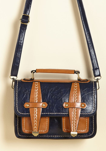 Just Published Bag - Blue, Tan, Work, Casual, Scholastic/Collegiate, Fall, Faux Leather, Better