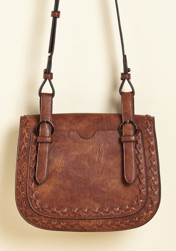 Daily Destinations Bag - Brown, Braided, Casual, Daytime Party, Minimal, Fall, Winter, Faux Leather