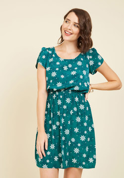 Oh My Gosh A-Line Dress in Snowflakes