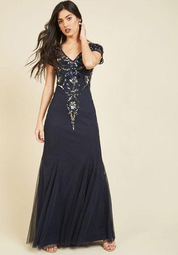 Modern Vintage Evening Dresses and Formal Evening Gowns Intriguing Influence Maxi Dress $259.99 AT vintagedancer.com