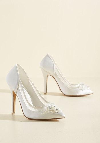 Vintage Style Wedding Shoes Embellished to Intrigue Heel $179.99 AT vintagedancer.com