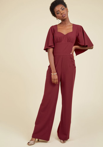 1920s Style Women's Pants Flair for Fearlessness Jumpsuit $99.99 AT vintagedancer.com