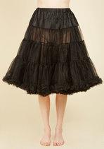 Va Va Voluminous Petticoat in Black - Long