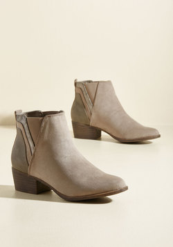 Portland by Morning Bootie in Taupe
