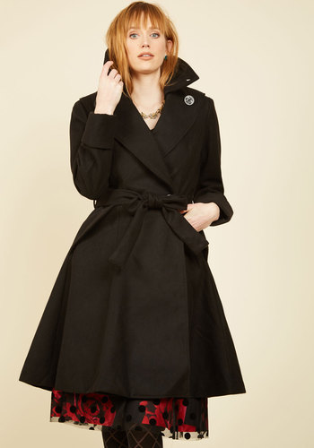 Retro Vintage Style Coats, Jackets, Fur Stoles Edinburgh Arrival Coat $199.99 AT vintagedancer.com