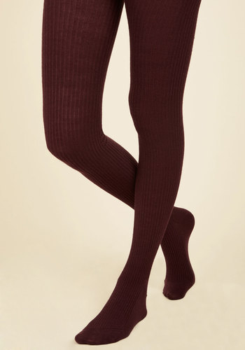 Homework Bound Tights in Cranberry - Purple, Solid, Knitted, Work, Casual, Fall, Winter, Best, Knit