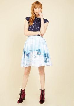 Drop It Like It's Hoth A-Line Skirt