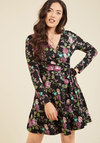 City Councilor Long Sleeve Dress in Floral