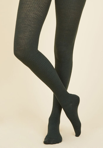 Homework Bound Tights in Pine - Green, Solid, Knitted, Work, Casual, Fall, Winter, Best, Knit