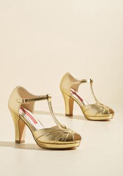 Take Your Dances Heel in Metallic Gold