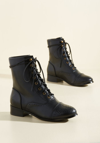 Victorian Boots & Shoes Flaunt Your Footwork Boot in Black $64.99 AT vintagedancer.com
