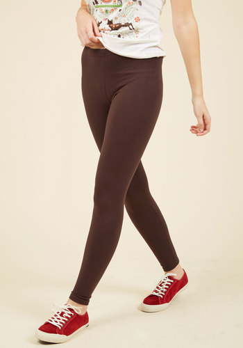 Simple and Sleek Leggings in Mocha - Brown, Solid, Good, Jersey, Casual, Skinny, Minimal, Knit, Basic, 90s, Best Seller, Ankle, Brown, Low-Rise, Fall, Top Rated, Exclusives, Lounge, Under 25 Gifts, Winter, Saturated, Cozy2015