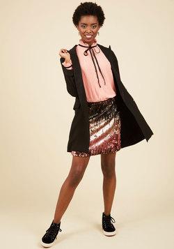 Shine Pairing Mini Skirt