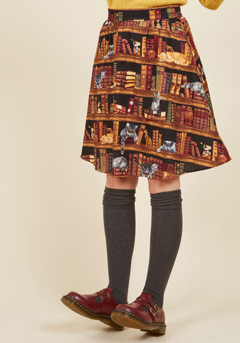 Fun for the Books A-Line Skirt
