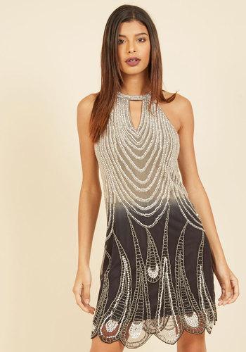 Modern Vintage Evening Dresses and Formal Evening Gowns Let Bygones Be Icons Beaded Dress $179.99 AT vintagedancer.com