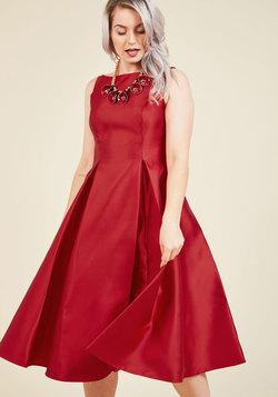 Careful What You Lavish For Midi Dress in Crimson