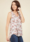 Infinite Options Tank Top in Ivory Floral