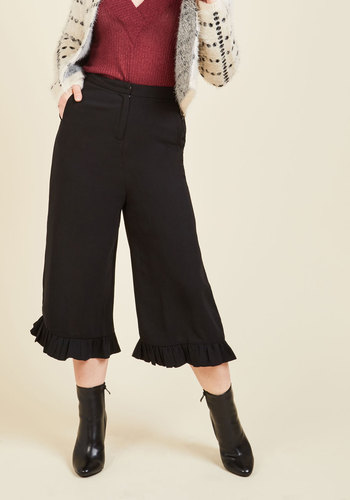Steampunks Pants & Bloomers Ruffle Around the Edges Pants $69.99 AT vintagedancer.com