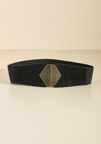 Cinch You Asked Belt in Licorice - Black, Gold, Work, Casual, Urban, Fall