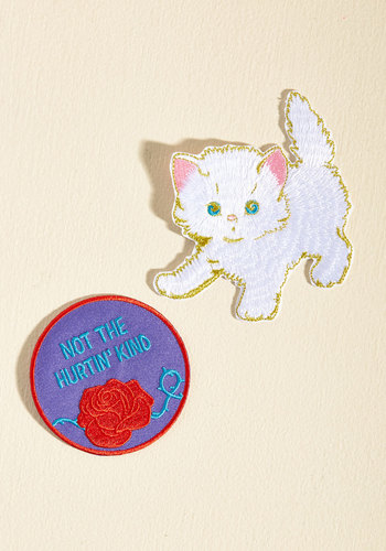 Aesthetic Attitude Patch Set by Darling Distraction - Multi, Flower, Casual, Daytime Party, Quirky, Cats, Winter, Good