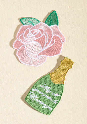 Bubbly Your Pleasure Patch Set by Darling Distraction - Multi, Flower, Casual, Daytime Party, Quirky, Winter, Good