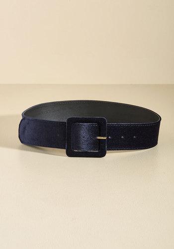 Haute Habits Velvet Belt in Midnight - Blue, Party, Holiday, Holiday Party, Statement, Fall, Velvet, Better