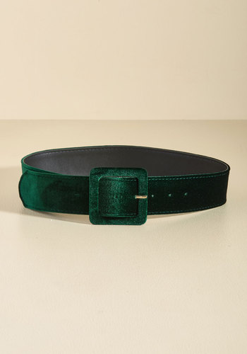 Haute Habits Velvet Belt in Pine - Green, Special Occasion, Holiday, Holiday Party, Statement, Fall, Velvet, Better