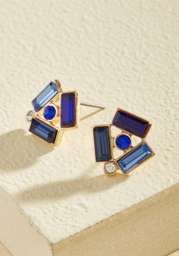 Beguile From Ear to Ear Earrings - Gold, Studs, Party, Cocktail, Girls Night Out, Fall, Good
