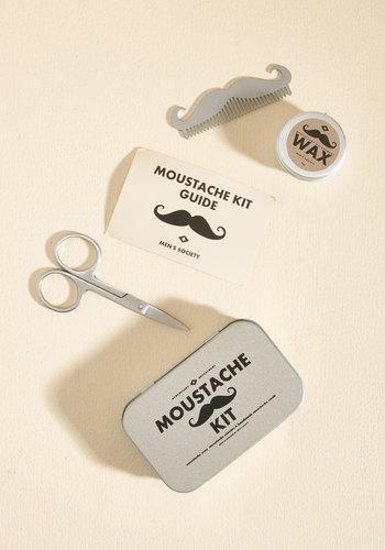 scissors of oz moustache kit mod retro vintage keychains. Black Bedroom Furniture Sets. Home Design Ideas