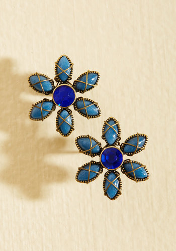 Rustic Royalty Earrings - Gold, Blue, Bronze, Fall, Winter, Gals, Stocking Stuffers