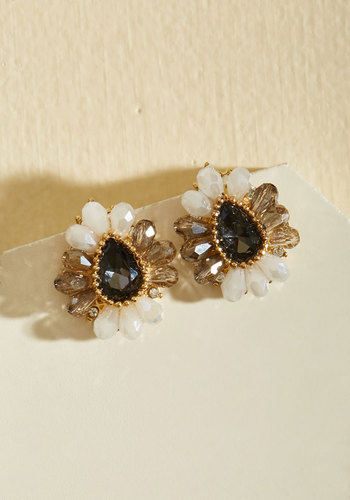 Ideal Addition Earrings - Gold, Gold, Black, Special Occasion, Party, Holiday Party