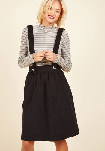 1940s Style Skirts Hold in Suspends A-Line Skirt $69.99 AT vintagedancer.com