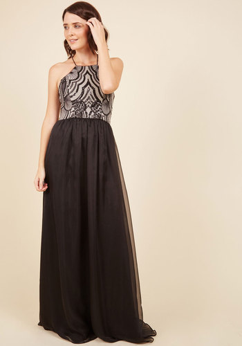 Upscale Atmosphere Maxi Dress - Luxe Gifts, Black, Sequins, Special Occasion, Party, Cocktail, Luxe, A-line, Maxi, Sleeveless, Halter, Fall, Winter, Woven, Exceptional, Halter, Sparkly2015, Bronze