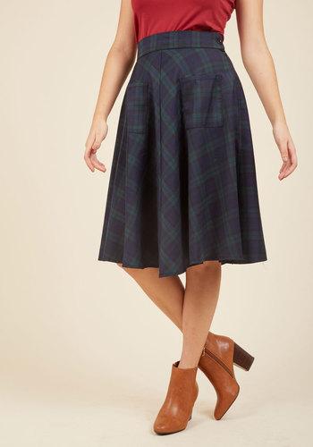 1940s Style Skirts Teachin to the Choir Midi Skirt $59.99 AT vintagedancer.com