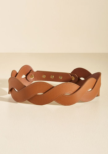 Get In Touch With Your Helix Belt in Chocolate - Brown, Braided, Work, Casual, Fall