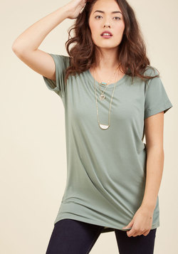 Simplicity on a Saturday Tunic in Sage