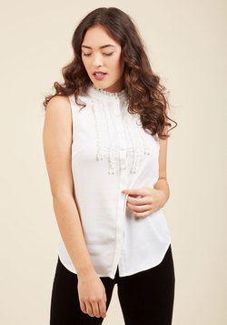 Can't Believe My Socialize Sleeveless Top in Ivory