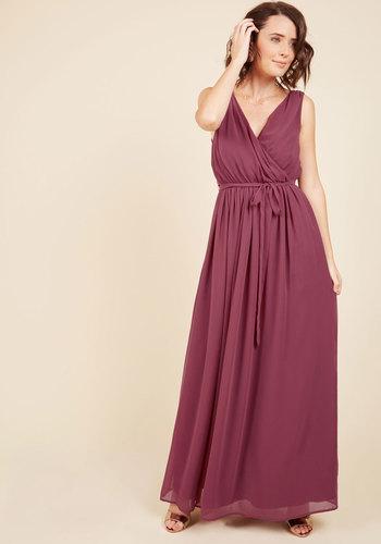 Time out maxi dress in wine mod retro vintage dresses modcloth com