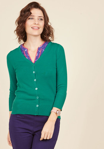 Charter School Cardigan in Lagoon
