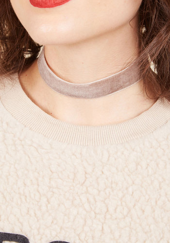 Effortless Accent Velvet Choker - Stocking Stuffers, Under 50 Gifts, Under 25 Gifts, Unique Gifts, Tan, Solid, Casual, Winter, Velvet, Good