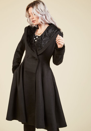 1950s Style Coats and Jackets Benefit Gala Debut Coat $199.99 AT vintagedancer.com